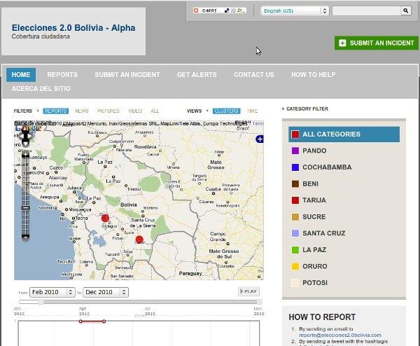 Elecciones 2.0 Bolivia Ushahidi
